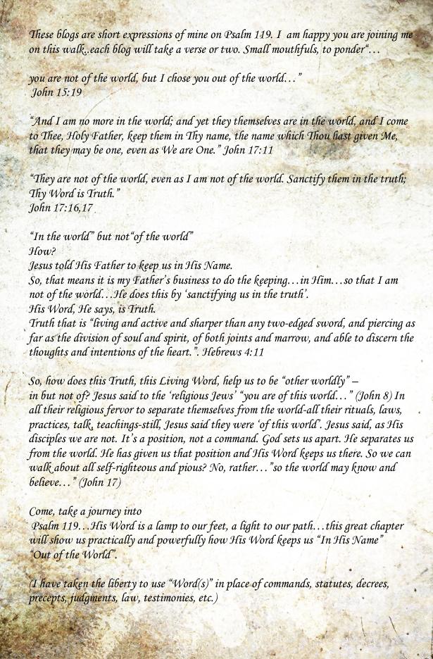 Psalm 119 intro