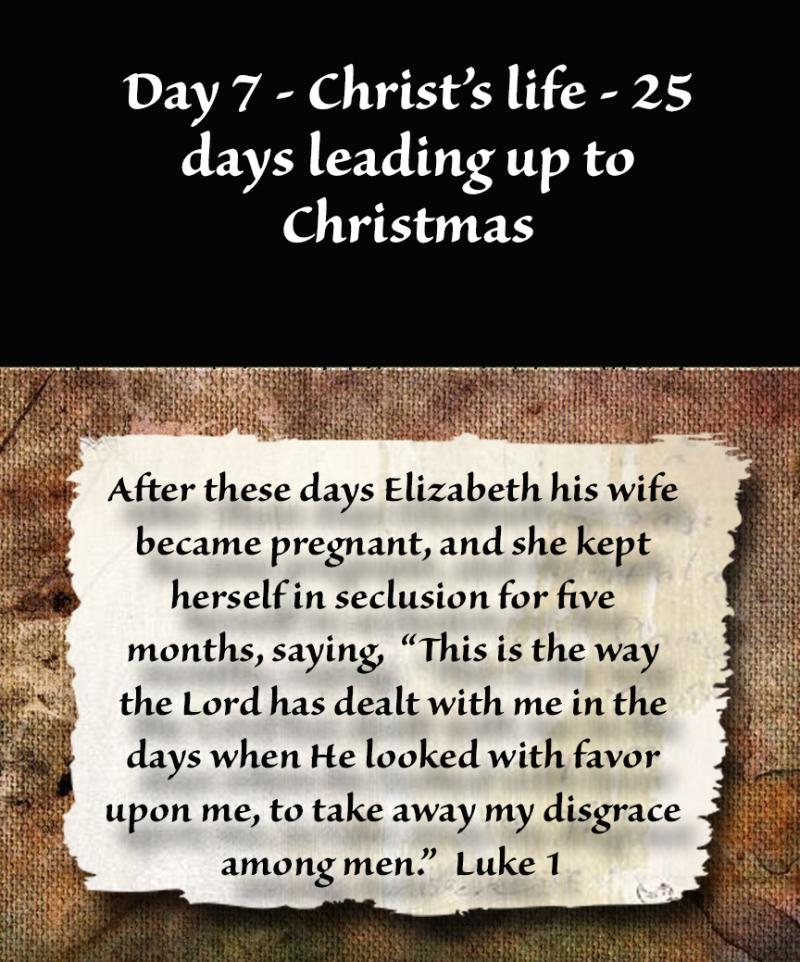 Day 7 - Christ's life