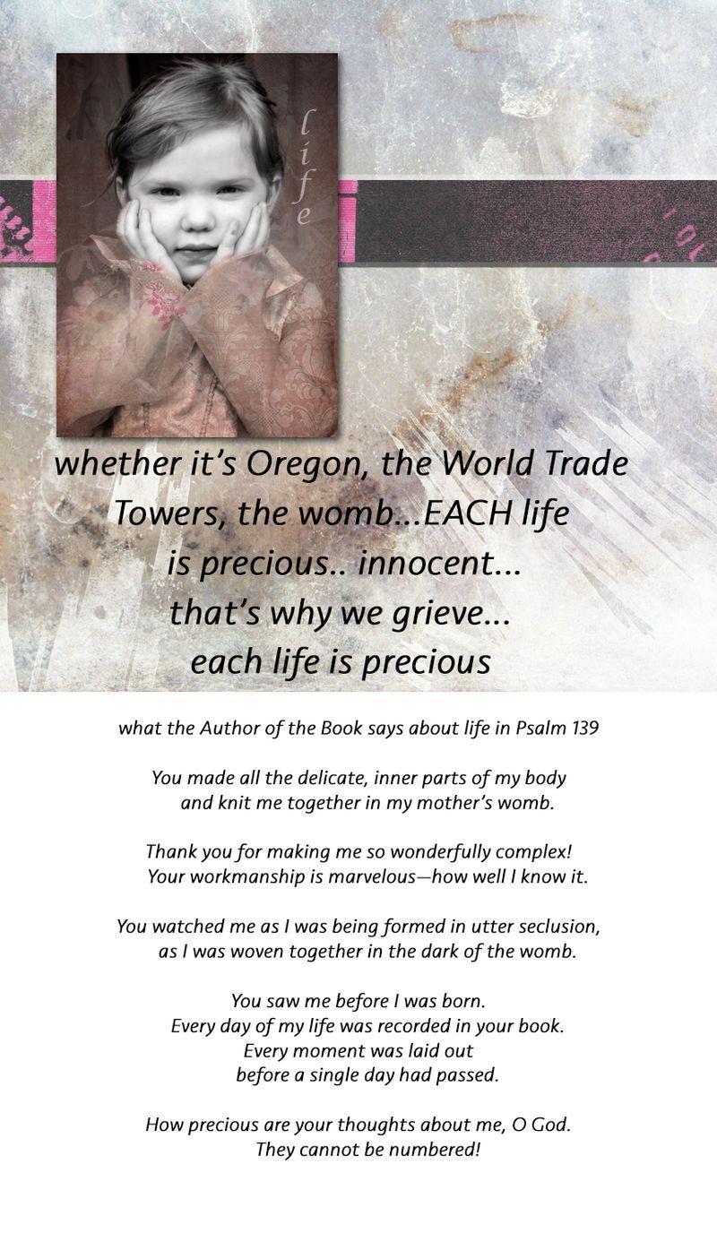 Each life precious