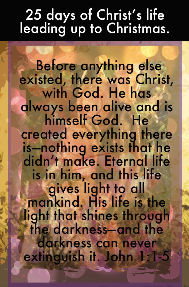 Day 1 lifeof christ