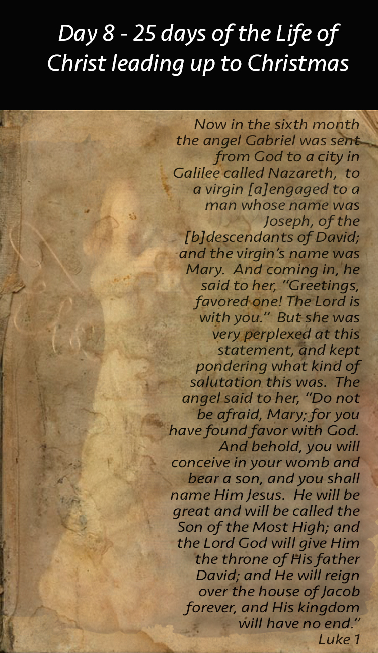 Day 8 Christ's life