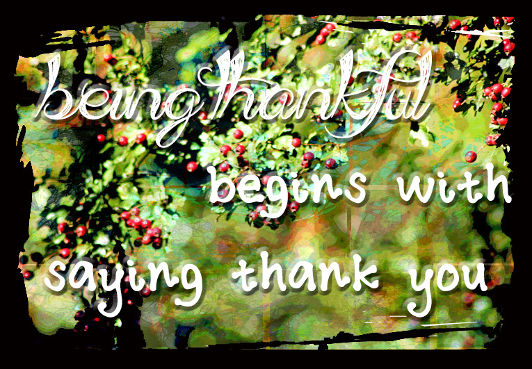 Beingthankful