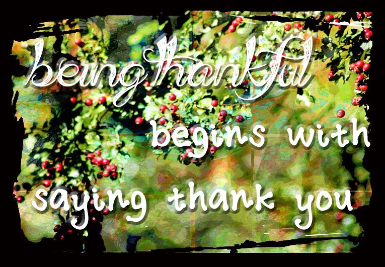 Beingthankful