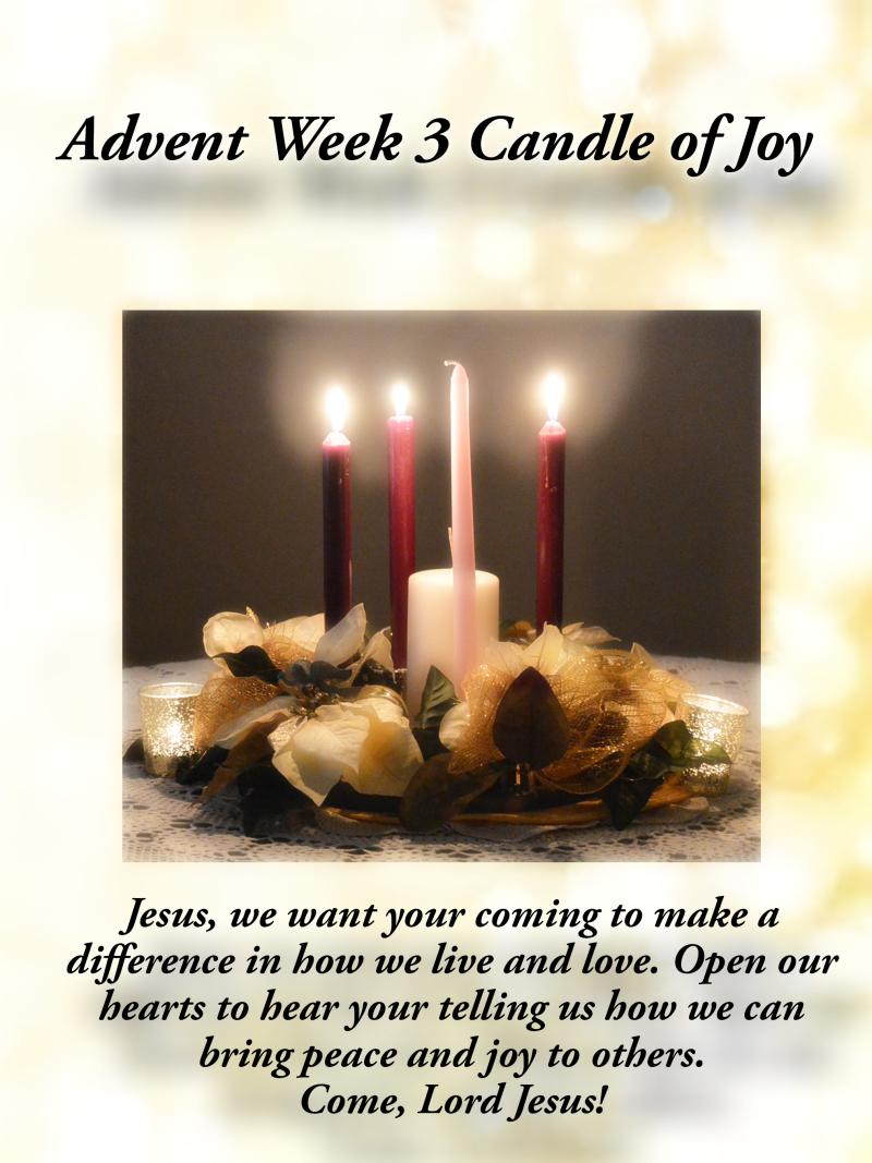 Advent week 3 joy